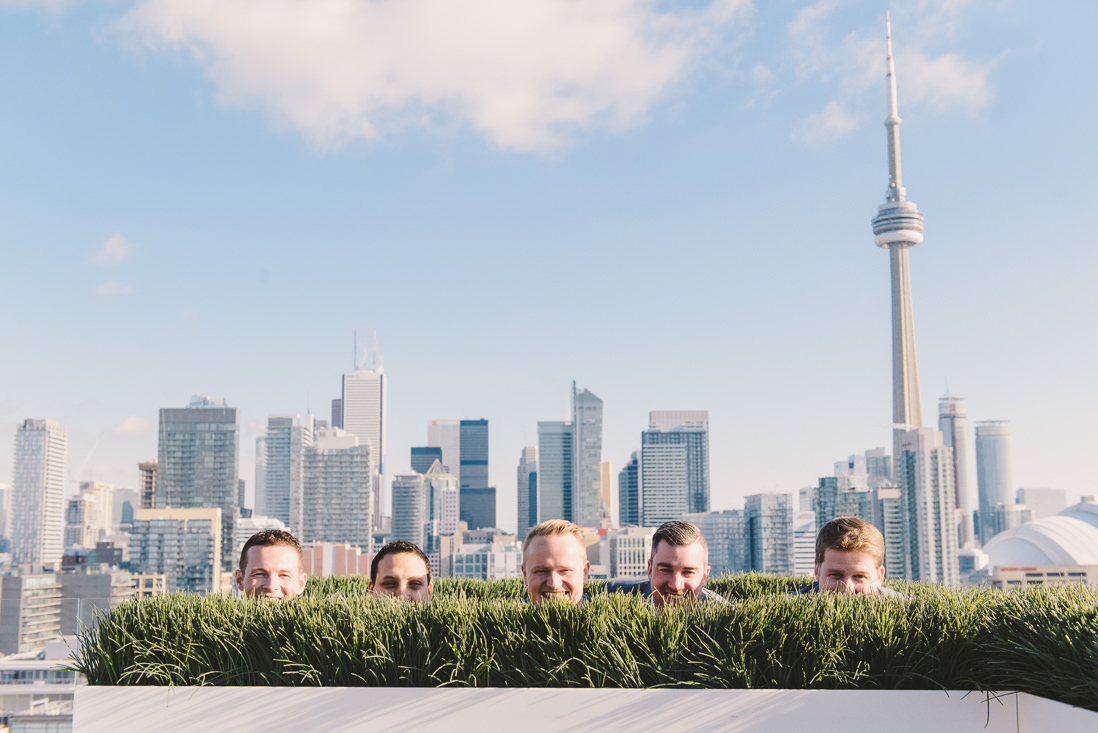 Groom & Groomsmen | Thompson Hotel Rooftop Wedding, Toronto | EIGHTYFIFTH STREET PHOTOGRAPHY