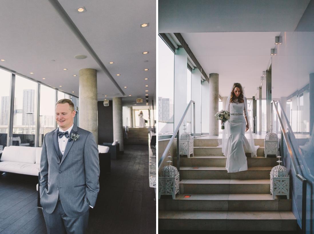 First Look | Thompson Hotel Rooftop Wedding, Toronto | EIGHTYFIFTH STREET PHOTOGRAPHY