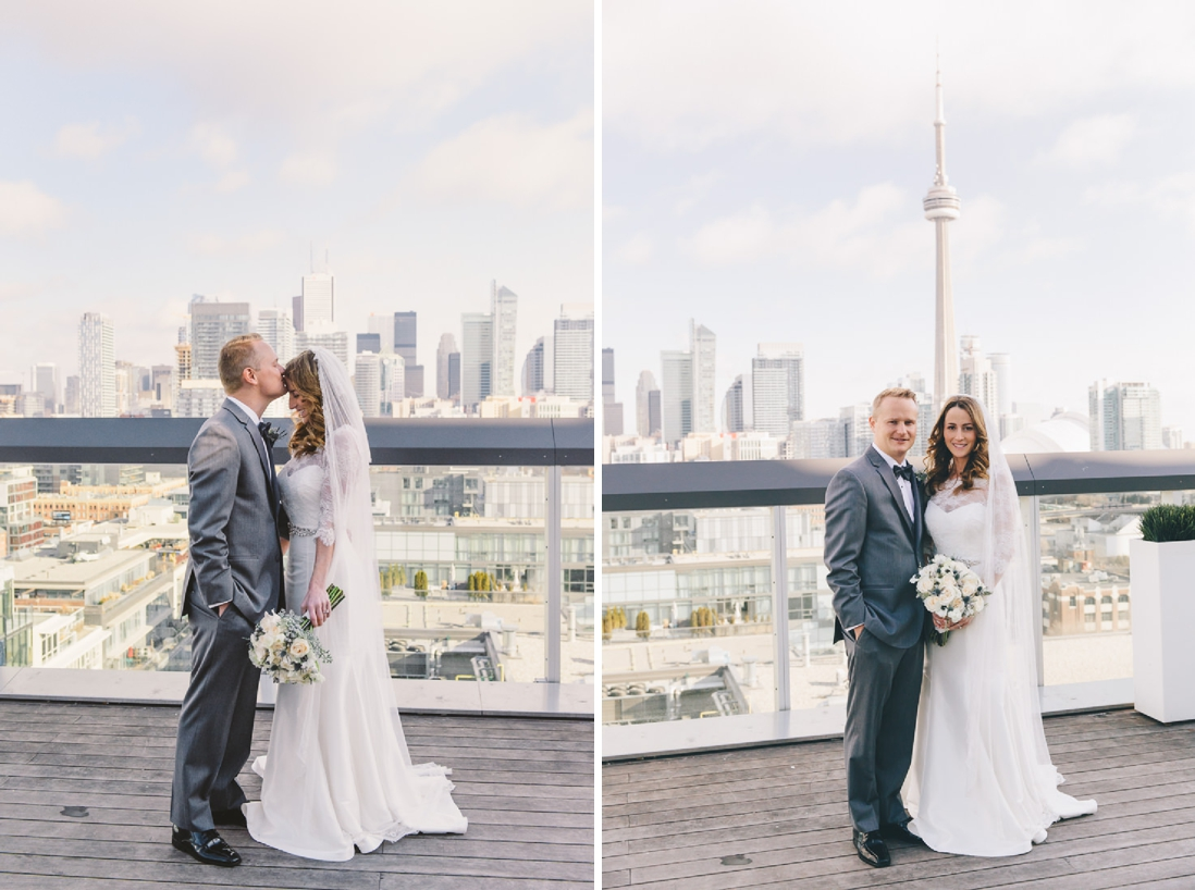 Bride & Groom Portraits | Thompson Hotel Rooftop Wedding, Toronto | EIGHTYFIFTH STREET PHOTOGRAPHY