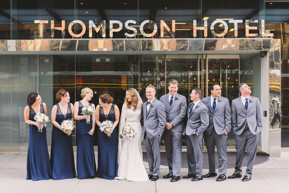 Wedding Party Portraits | Thompson Hotel Wedding, Toronto | EIGHTYFIFTH STREET PHOTOGRAPHY