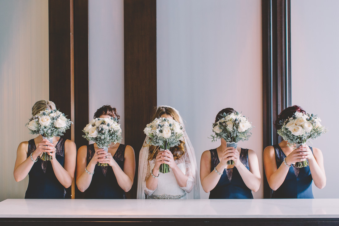 Bridal Party Flower Face | Thompson Hotel Wedding, Toronto | EIGHTYFIFTH STREET PHOTOGRAPHY