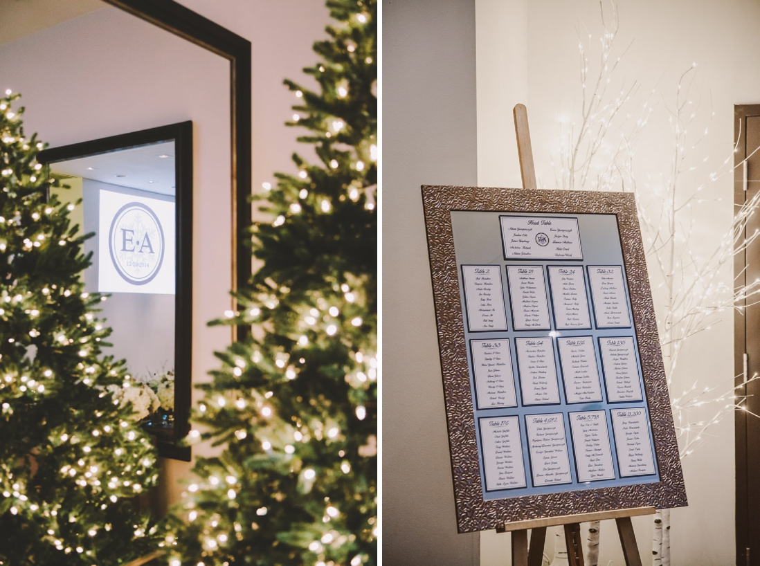Bride & Groom Monogram Projection and Mirror Seating Chart | Winter Thompson Hotel Wedding, Toronto | EIGHTYFIFTH STREET PHOTOGRAPHY