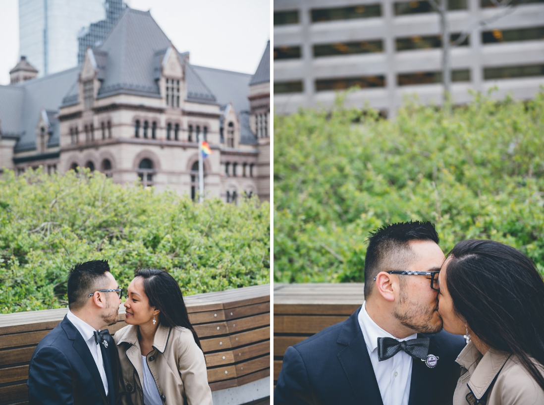 Bride & Groom portraits | Toronto City Hall Podium | Toronto City Hall Wedding | EIGHTYFIFTH STREET PHOTOGRAPHY