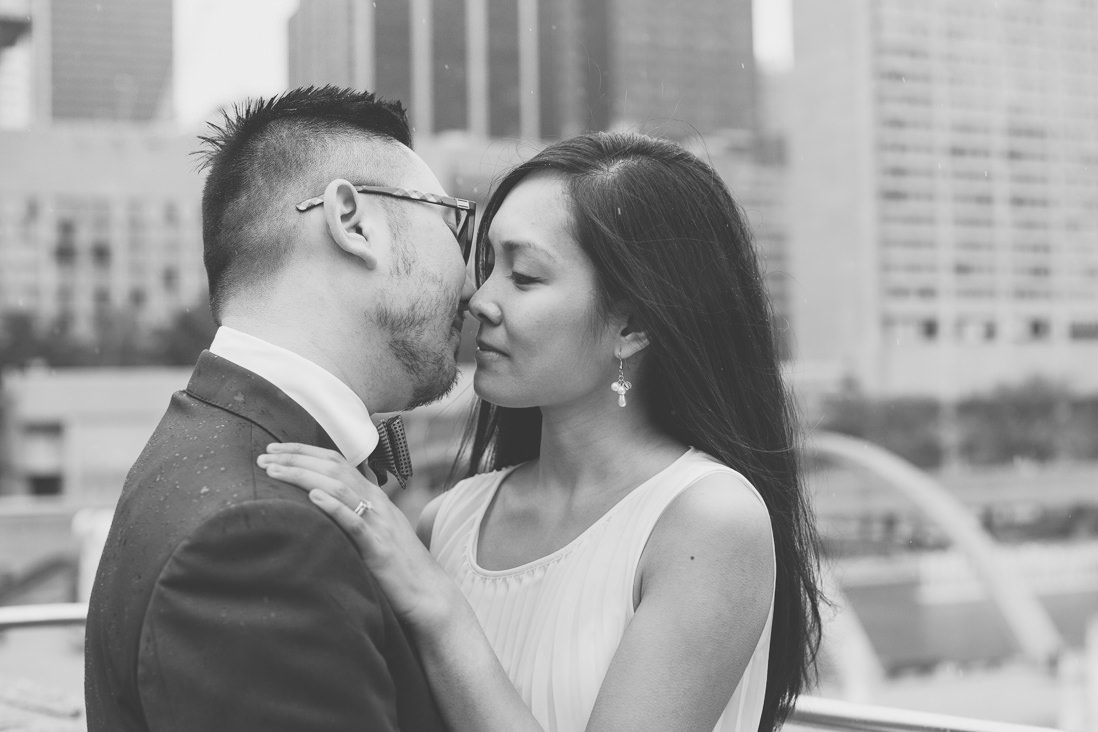 Black & White Bride & Groom portraits | Nathan Phillips Square | Toronto City Hall Wedding | EIGHTYFIFTH STREET PHOTOGRAPHY