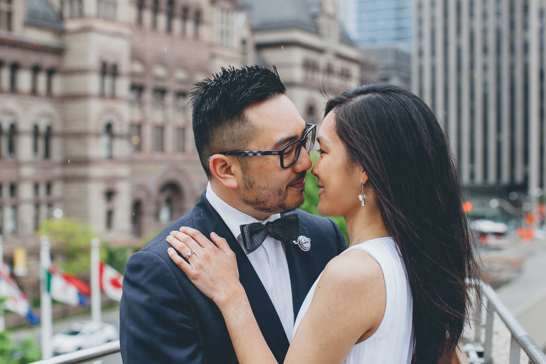 Bride & Groom portraits | Toronto City Hall Wedding | EIGHTYFIFTH STREET PHOTOGRAPHY