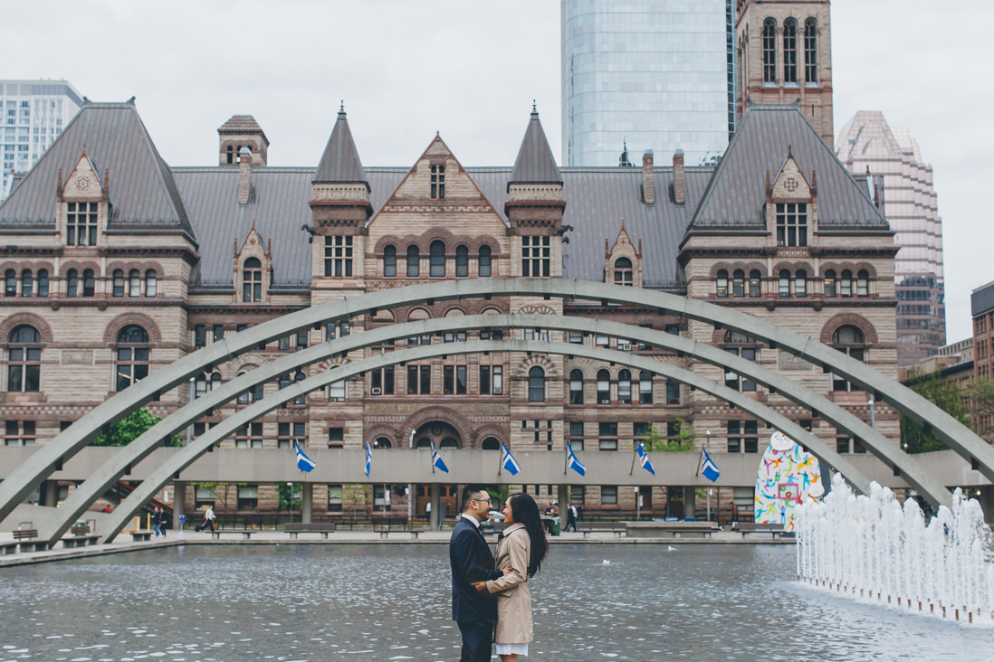 Bride & Groom portraits | Nathan Phillips Square | Toronto City Hall Wedding | EIGHTYFIFTH STREET PHOTOGRAPHY