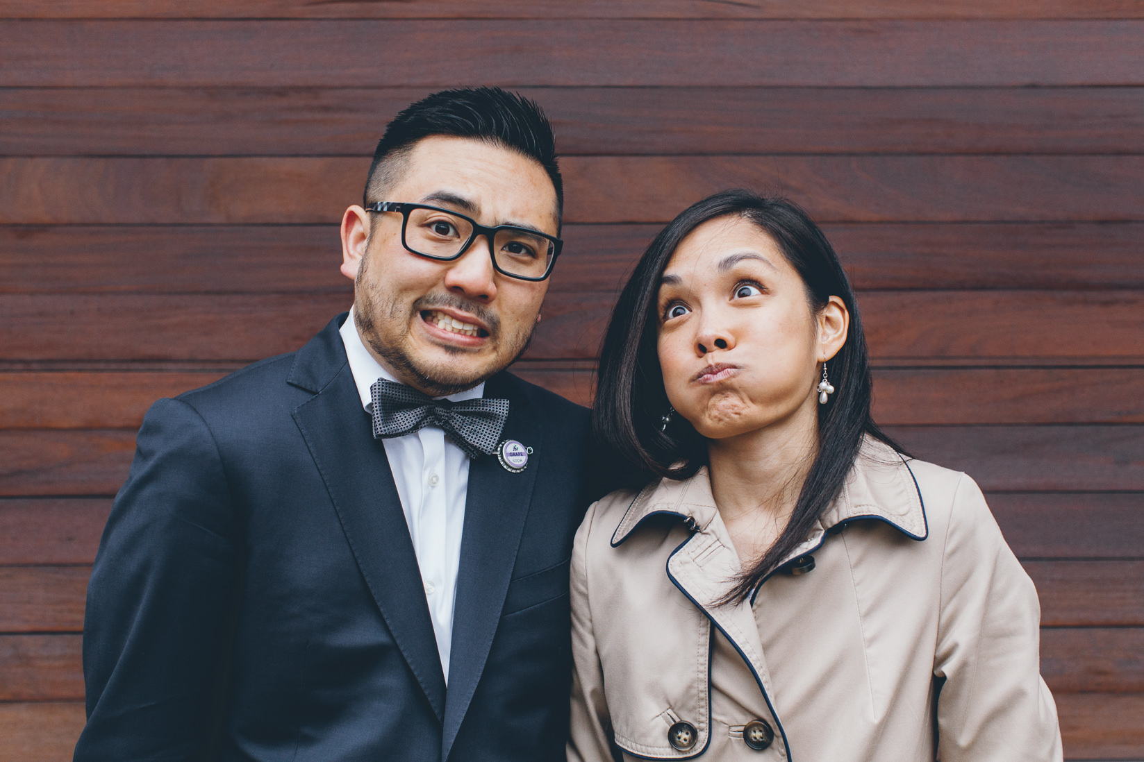 Funny Bride & Groom portraits | Nathan Phillips Square | Toronto City Hall Wedding | EIGHTYFIFTH STREET PHOTOGRAPHY