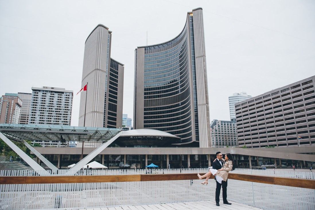 Bride & Groom portraits   Nathan Phillips Square   Toronto City Hall Wedding   EIGHTYFIFTH STREET PHOTOGRAPHY