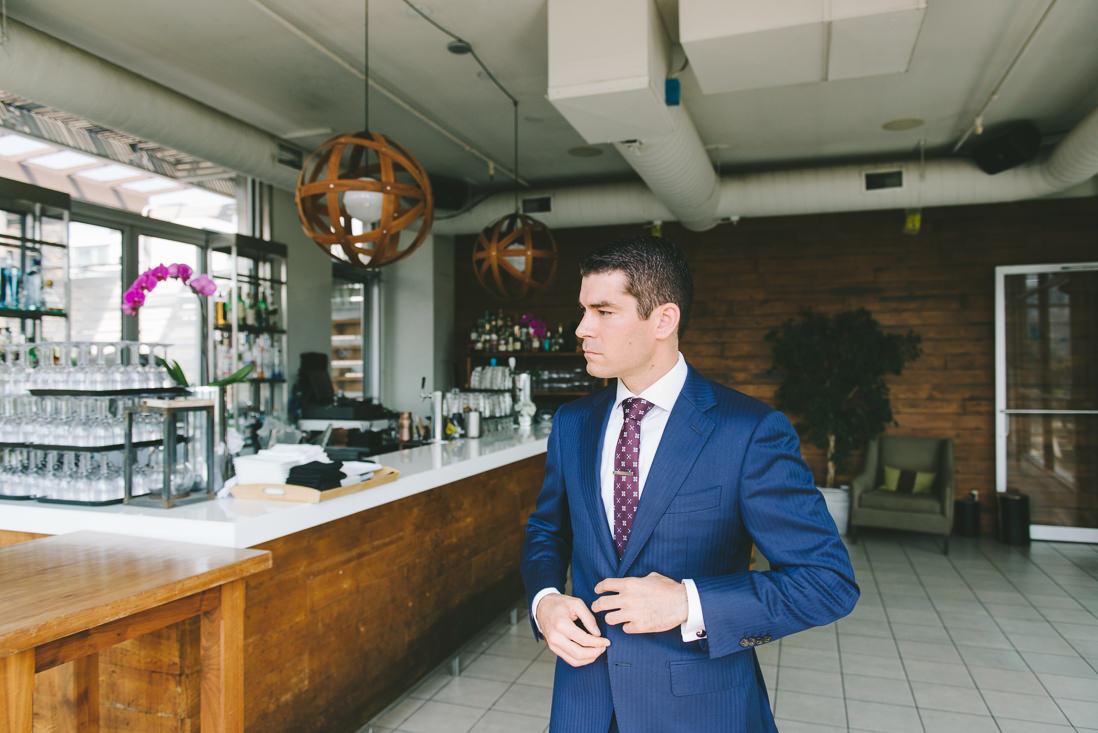 First Look   Spoke Club Wedding Toronto   EightyFifth Street Photography