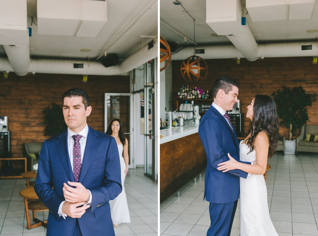 First Look | Spoke Club Wedding Toronto | EightyFifth Street Photography