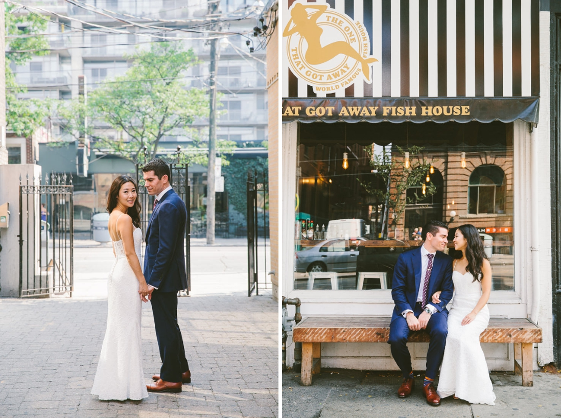 King St Bride & Groom portraits | Spoke Club Wedding Toronto | EightyFifth Street Photography