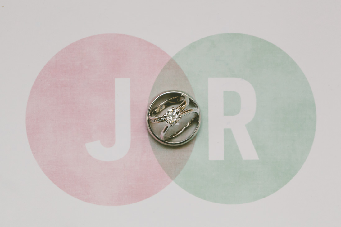 Wedding Rings on Venn Diagram Invitation | Spoke Club Wedding Toronto | EightyFifth Street Photography