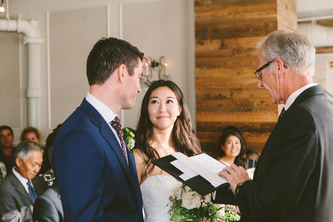 Spoke Club Wedding Ceremony Toronto   EightyFifth Street Photography