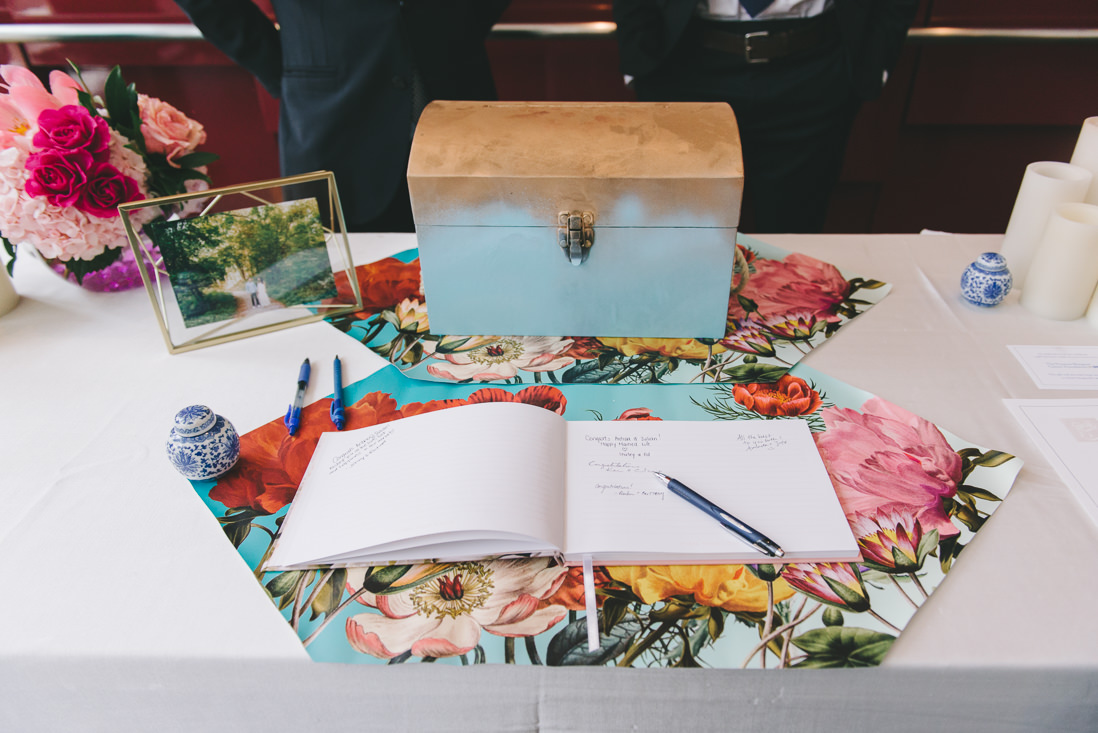 Guestbook Table | Toronto Malaparte Wedding - EIGHTYFIFTH STREET PHOTOGRAPHY