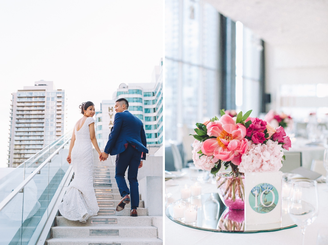 Pink Peony Centrepiece | Toronto Malaparte Wedding - EIGHTYFIFTH STREET PHOTOGRAPHY