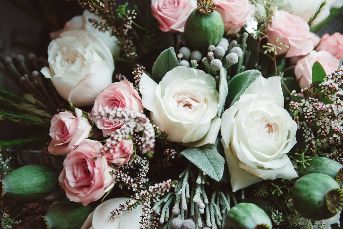 Rustic Pink & White Bridal Bouquet - EIGHTYFIFTH STREET PHOTOGRAPHY