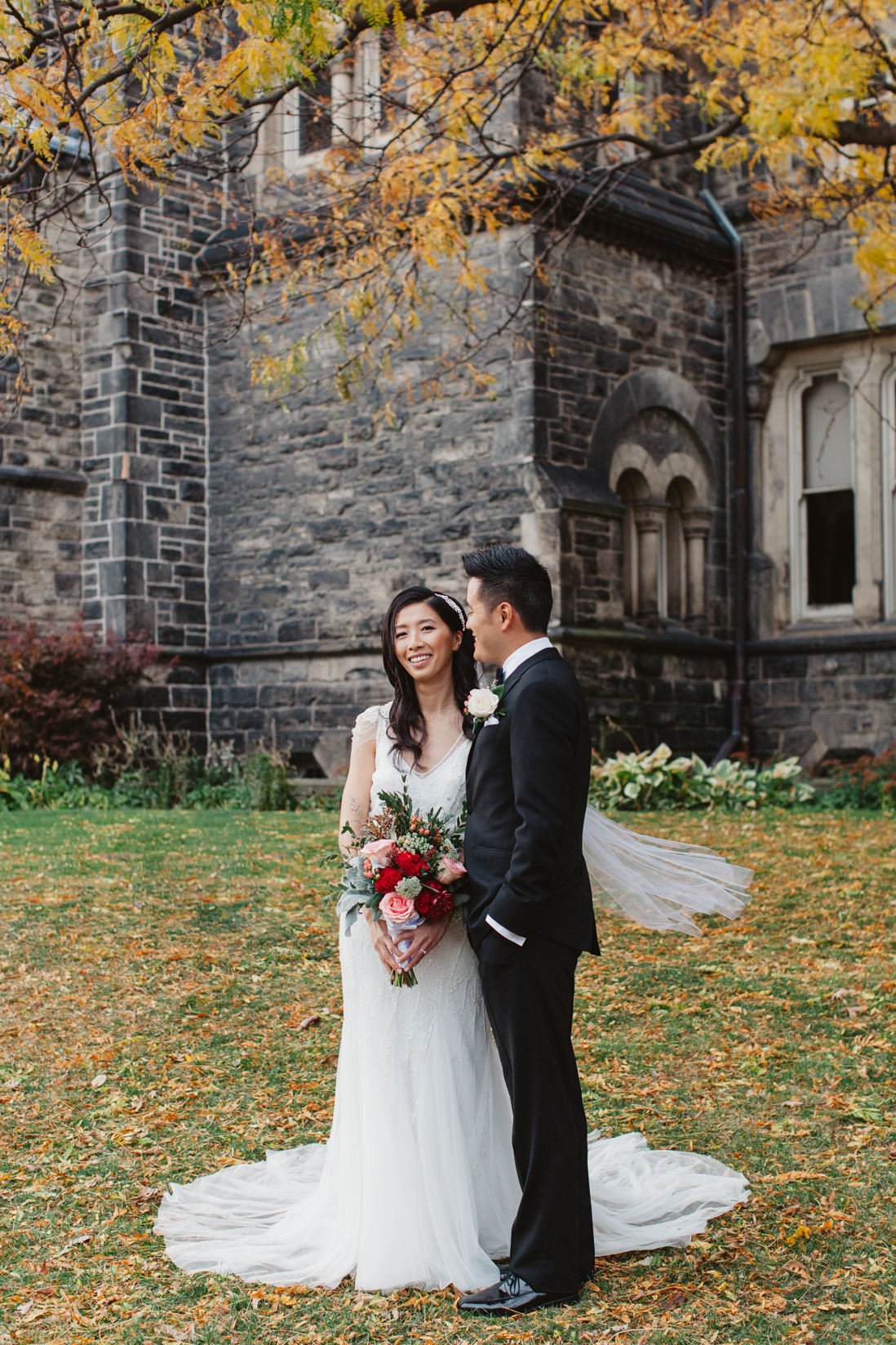 Autumn Bride & Groom Portraits | University College wedding | University of Toronto | EIGHTYFIFTH STREET PHOTOGRAPHY