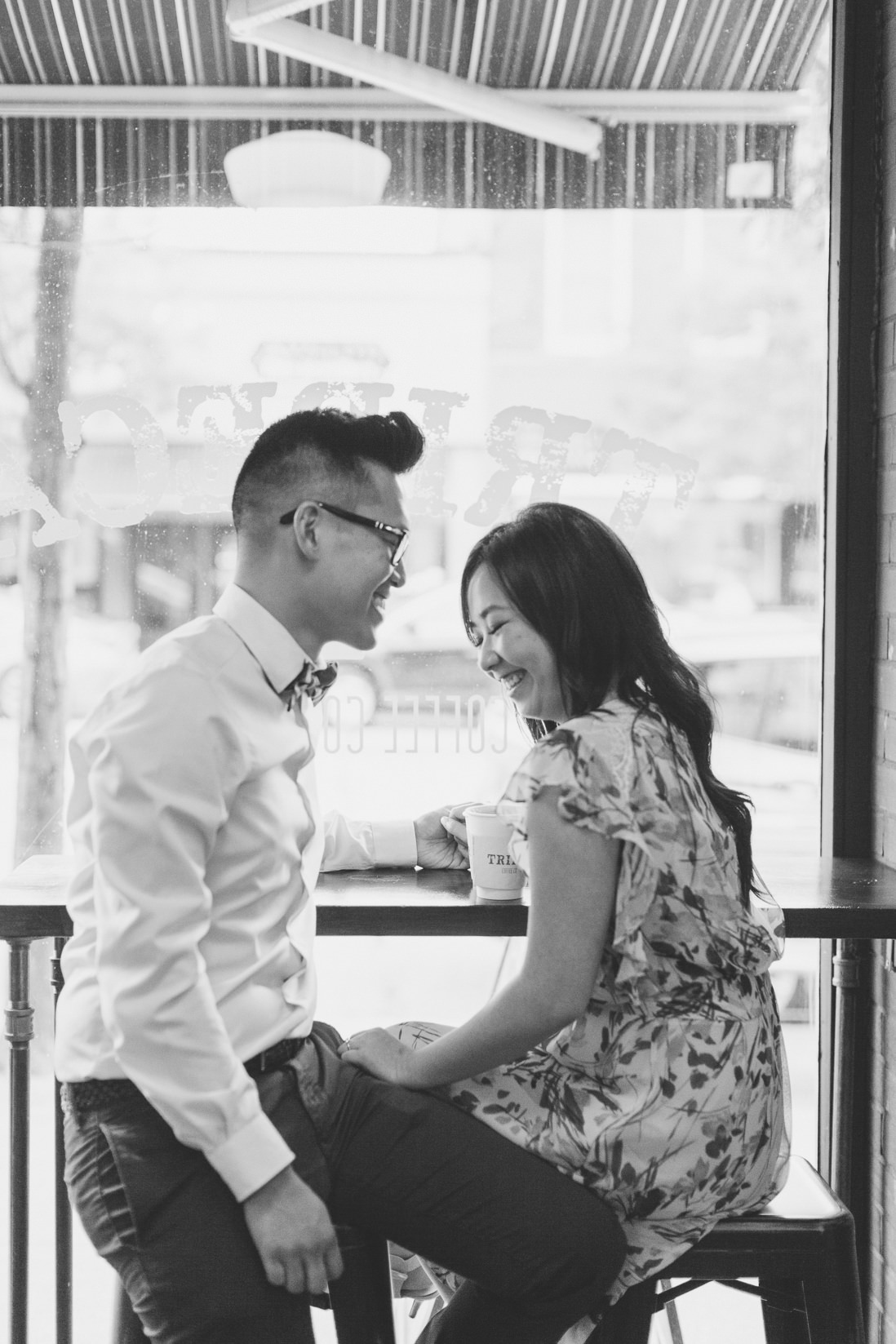 Coffee shop Engagement Oakville | EightyFifth Street Photography
