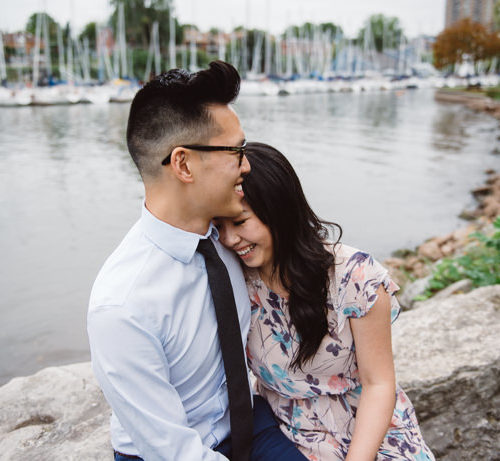 OAKVILLE LAKESIDE PARK ENGAGEMENT | diana + kenny