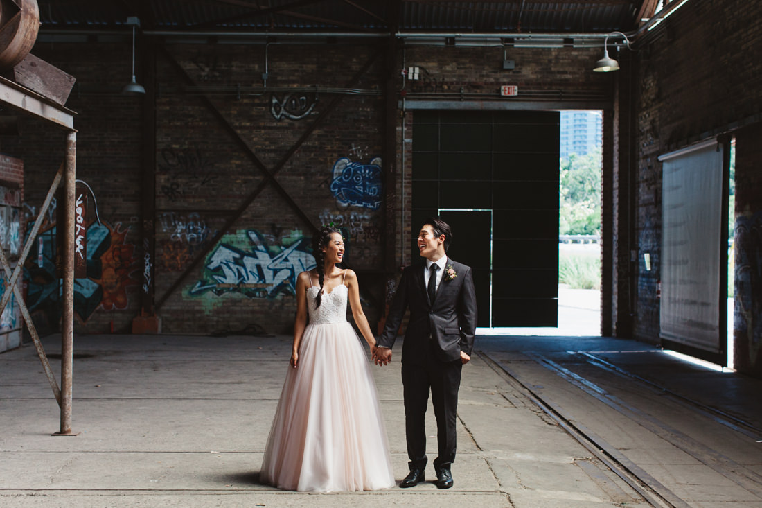 Evergreen Brickworks Wedding Toronto - Bride & Groom Portrait