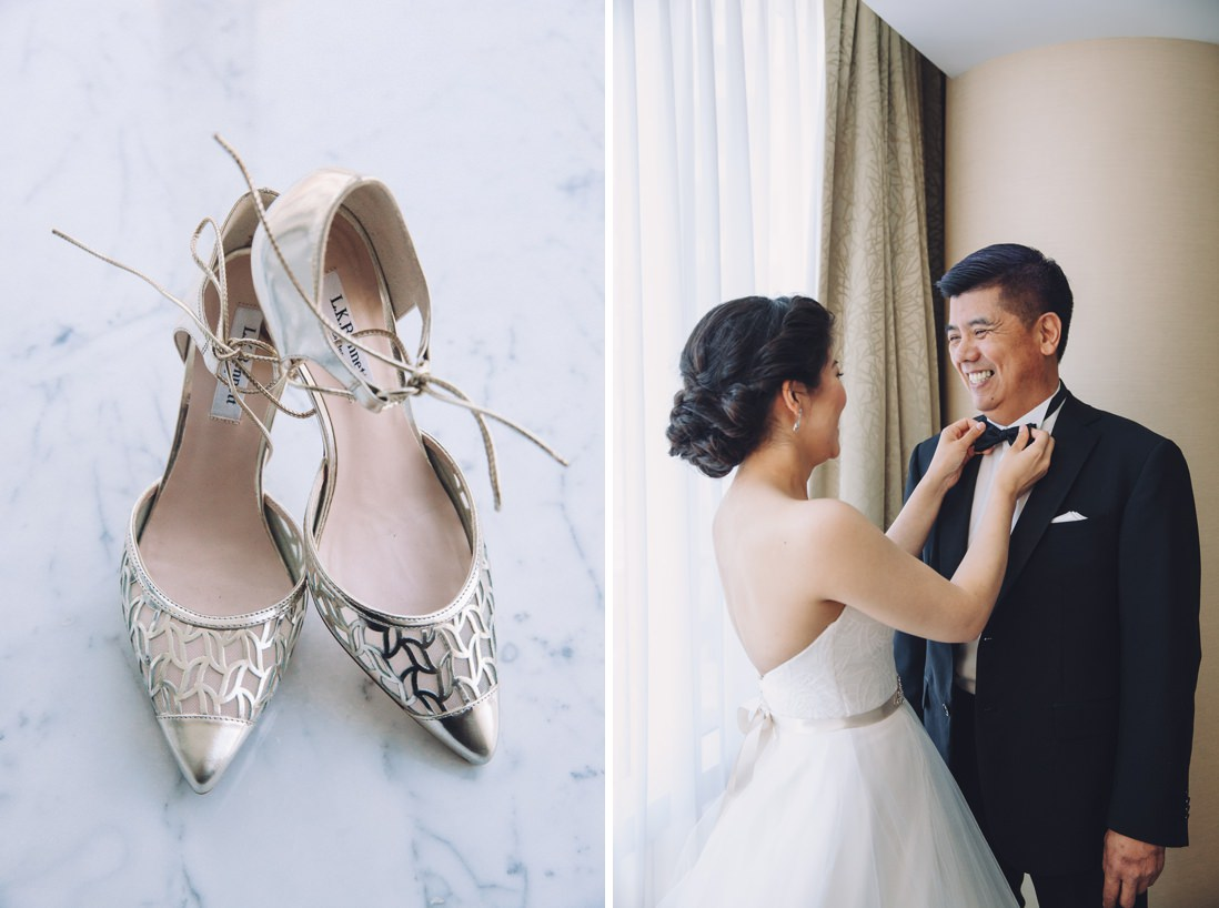 L.K Bennett silver wedding shoes | Arcadian Loft Wedding, Toronto | EIGHTYFIFTH STREET PHOTOGRAPHY