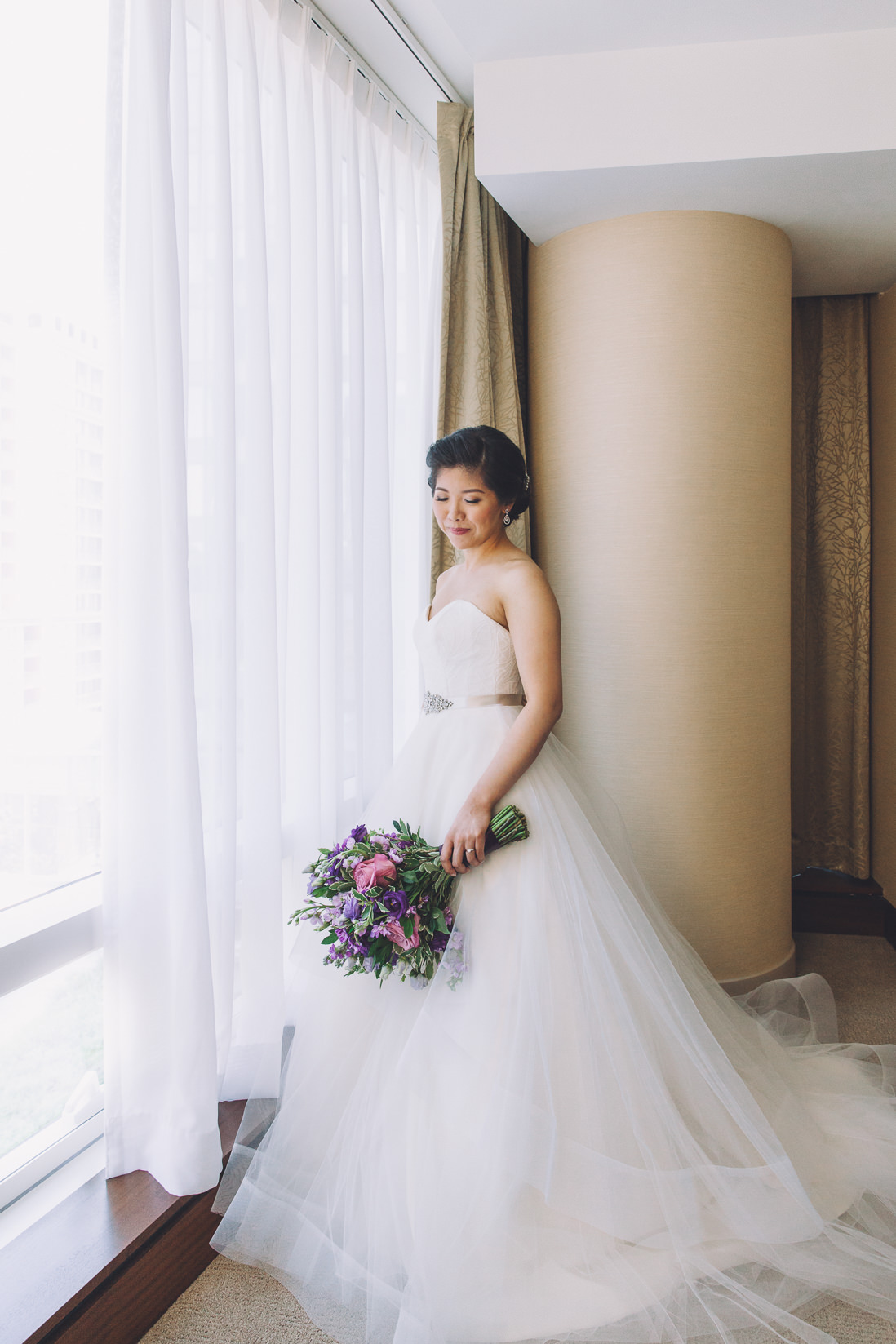 Bride's full length portrait | Arcadian Loft Wedding, Toronto | EIGHTYFIFTH STREET PHOTOGRAPHY