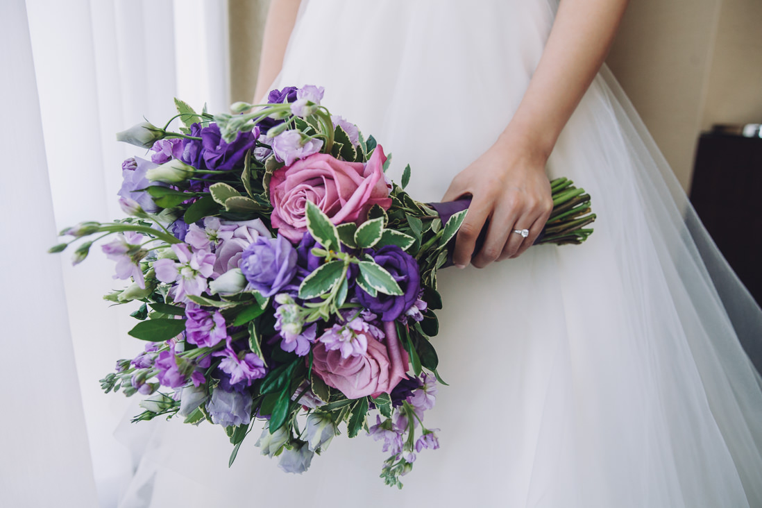 Purple Wedding Bouquet | Arcadian Loft Wedding, Toronto | EIGHTYFIFTH STREET PHOTOGRAPHY