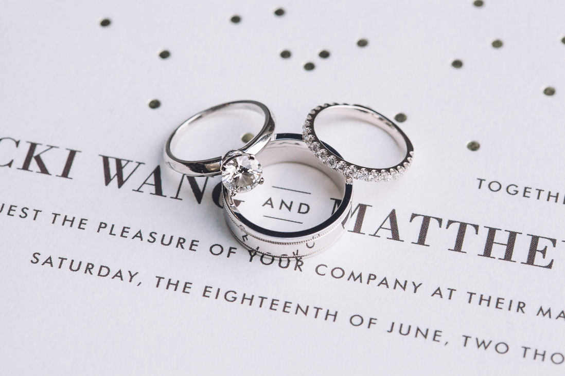 Wedding Rings & Minted Invitation Detail | Arcadian Loft Wedding, Toronto | EIGHTYFIFTH STREET PHOTOGRAPHY