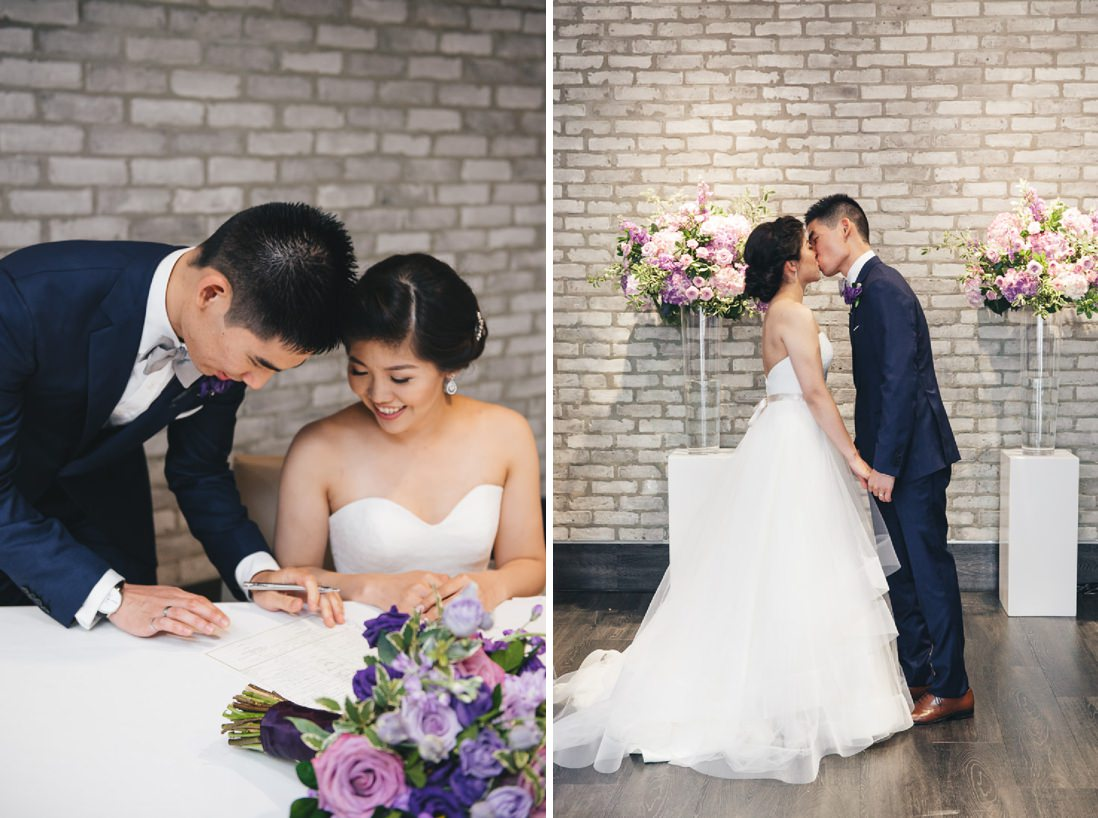 First Kiss | Arcadian Loft Wedding, Toronto | EIGHTYFIFTH STREET PHOTOGRAPHY
