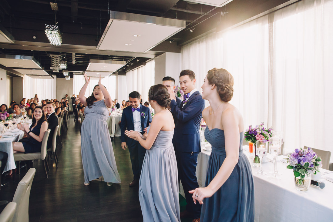 Wedding reception entry | Candid wedding moments | Arcadian Loft Wedding, Toronto | EIGHTYFIFTH STREET PHOTOGRAPHY