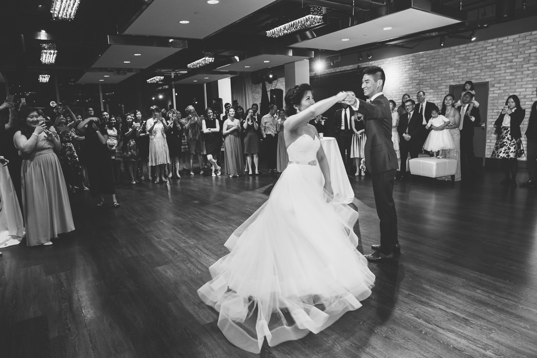 Black & White first dance | Arcadian Loft Wedding, Toronto | EIGHTYFIFTH STREET PHOTOGRAPHY