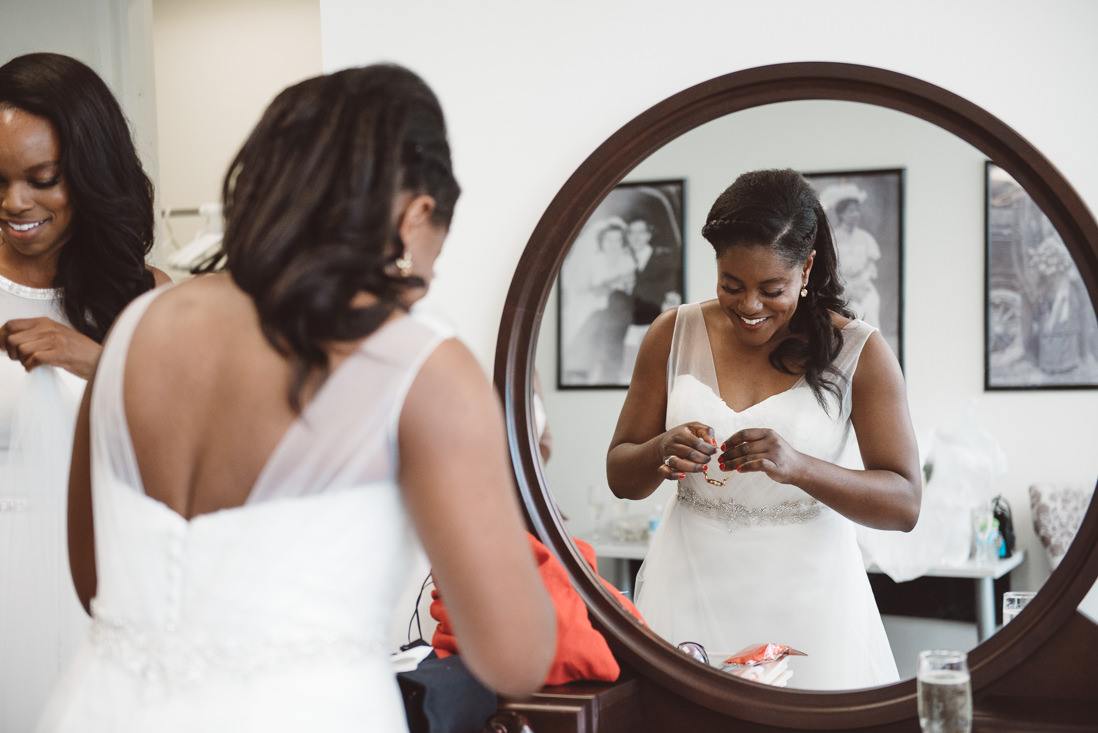 Bride Getting Ready | Harding Waterfront Estate Wedding, Mississauga | EightyFifth Street Photography