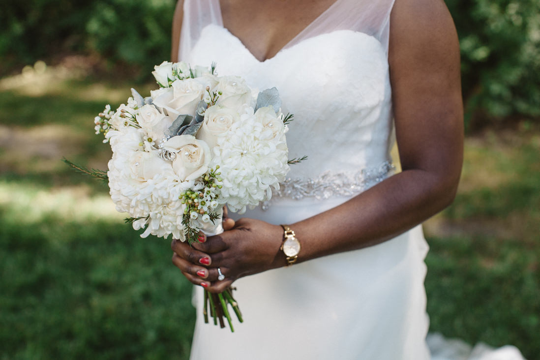 All White Bouquet | Ceremony | Harding Waterfront Estate Wedding, Mississauga | EightyFifth Street Photography