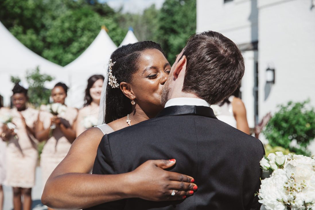 First Kiss | Harding Waterfront Estate Wedding, Mississauga | EightyFifth Street Photography