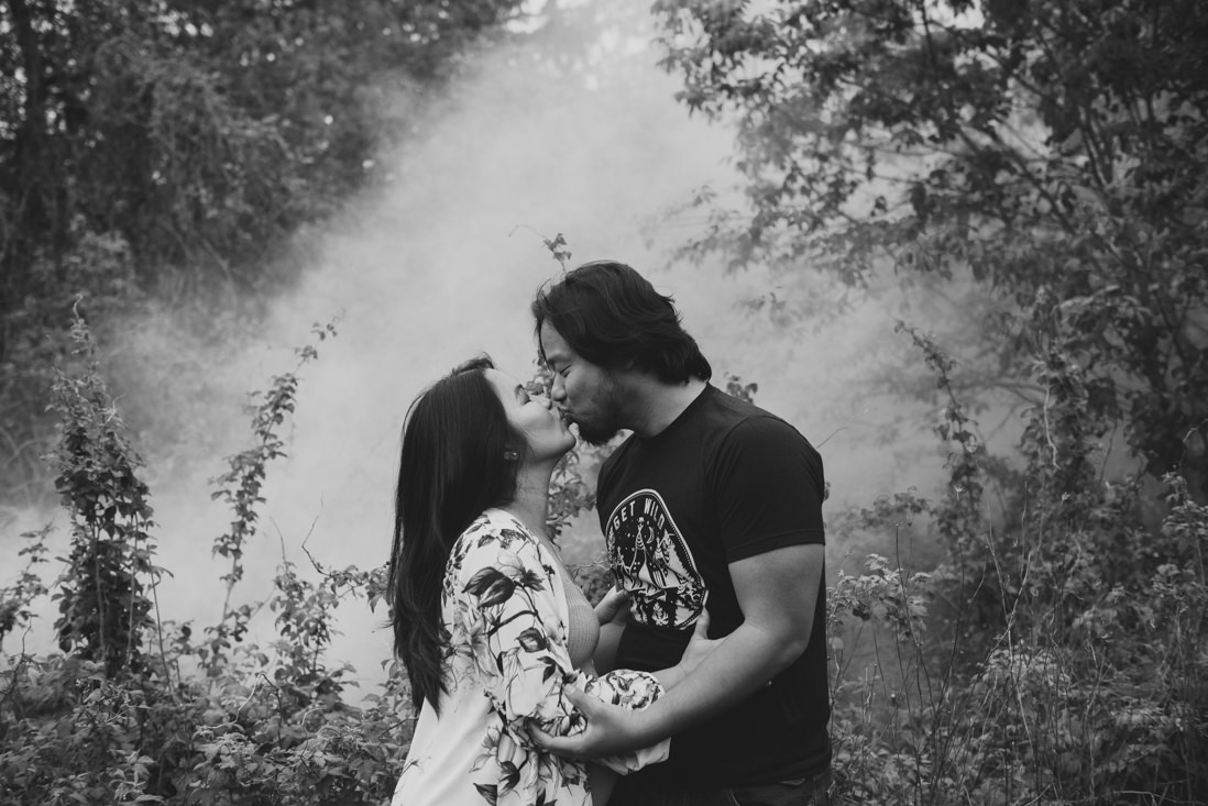 Smoke bomb portraits | Riverwood Conservancy Maternity Mississauga | EightyFifth Street Photography