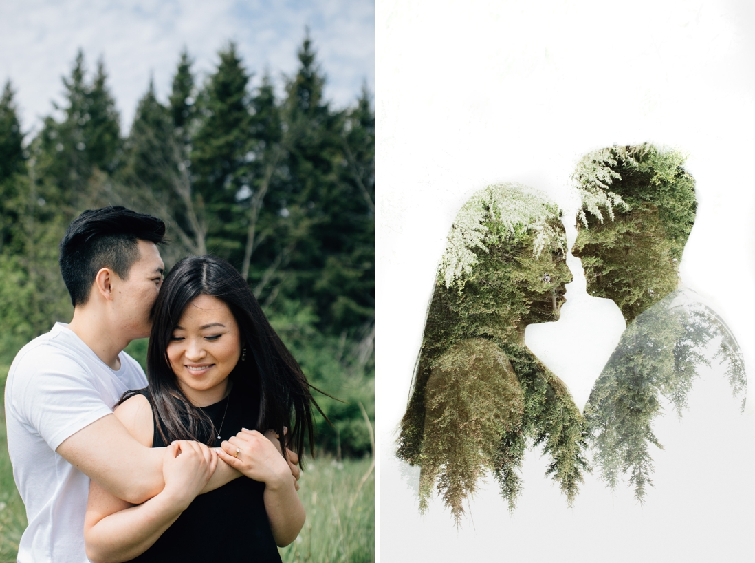 double exposure of couple | kortright conservation engagement photos | engagement photo locations in vaughan | eightyfifth street photography