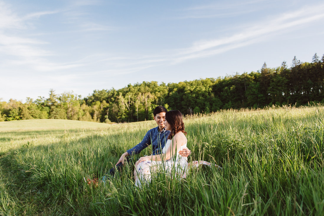Couple in field of tall grass | Scotsdale Farm Engagement, Georgetown | Toronto Wedding Photographer | EightyFifth Street Photography