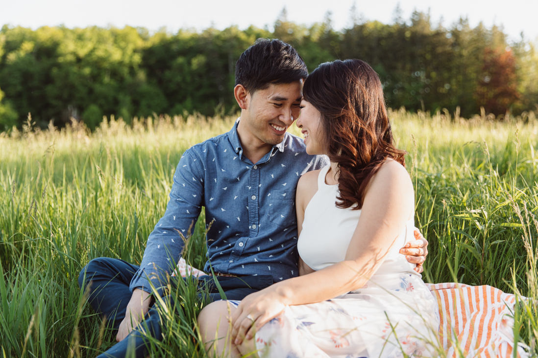 Couple in field of fall grass | Scotsdale Farm Engagement, Georgetown | Toronto Wedding Photographer | EightyFifth Street Photography