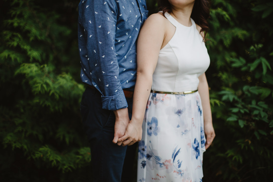 Couple with clasped hands | Scotsdale Farm Engagement, Georgetown | Toronto Wedding Photographer | EightyFifth Street Photography