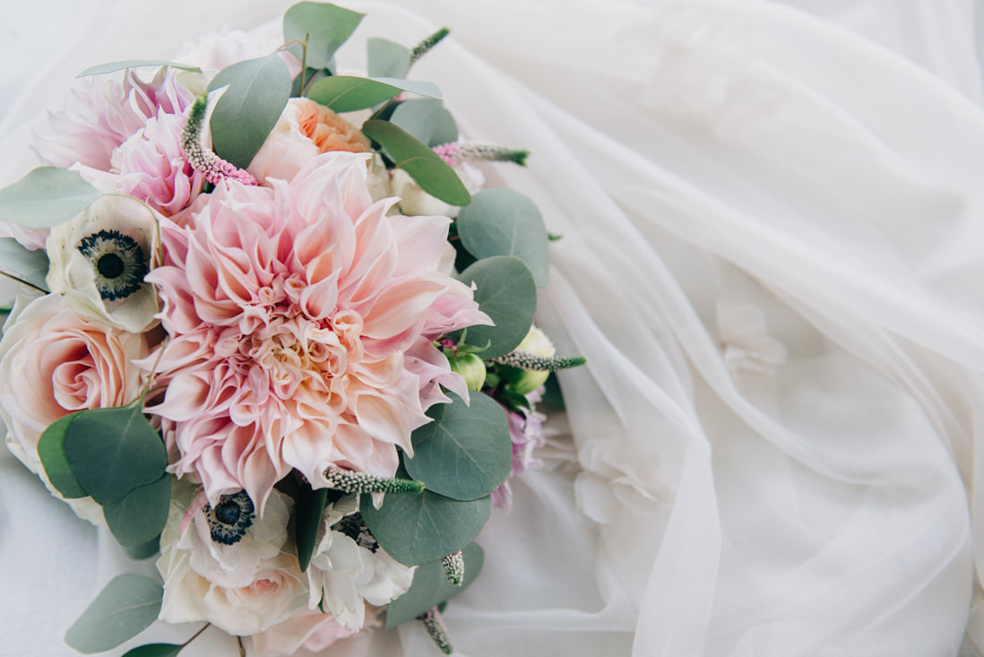 cafe au lait dahlia bridal bouquet | eightyfifth street photography