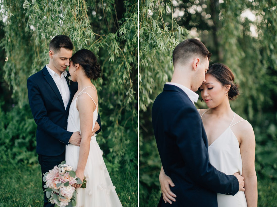 bride & groom willow tree portraits, spring wedding inspiration | eightyfifth street photography
