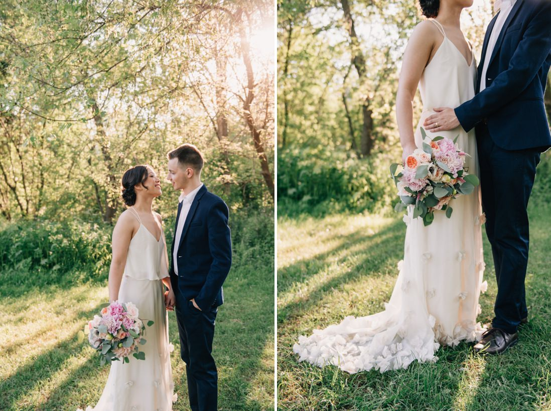bride & groom golden hour portraits, spring wedding inspiration | eightyfifth street photography