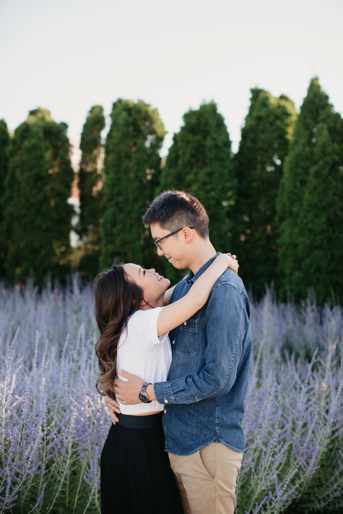 Lavender engagement photo location | Toronto Wedding Photographer | EightyFifth Street Photography