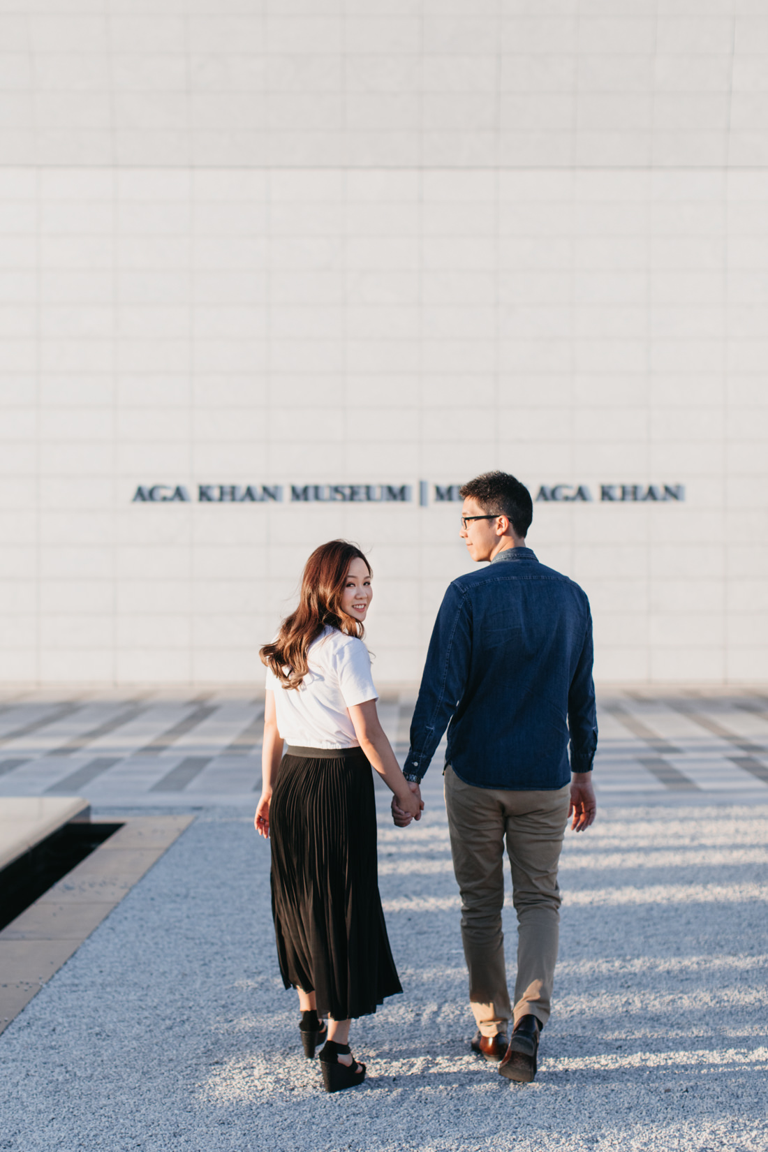 Aga Khan Museum engagement | Minimalist portrait location | Toronto Wedding Photographer | EightyFifth Street Photography