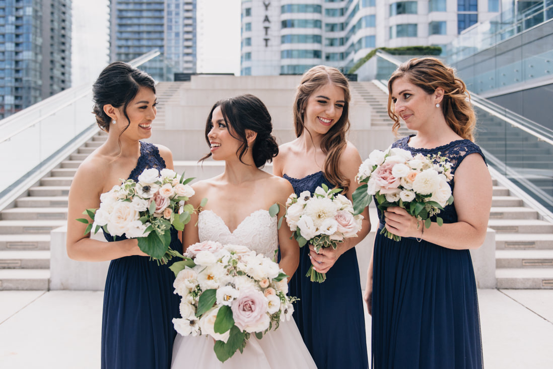 bridal party on the terrace at malaparte wedding bell tiff lightbox toronto