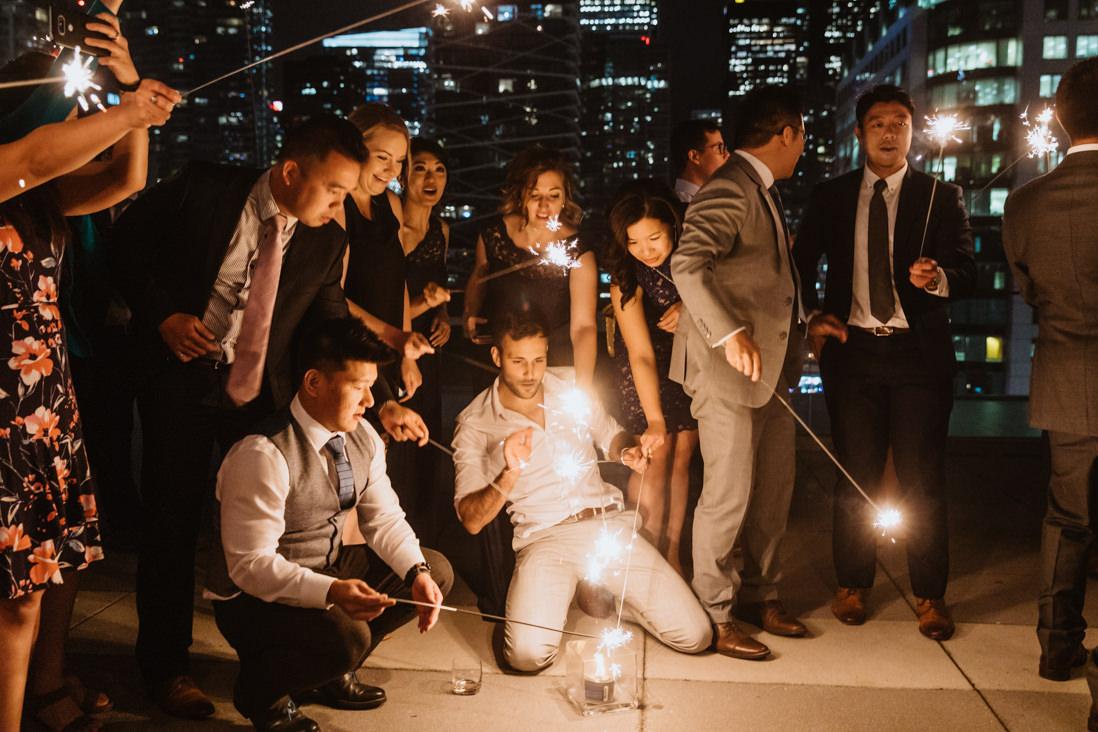 sparkler first dance malaparte wedding toronto