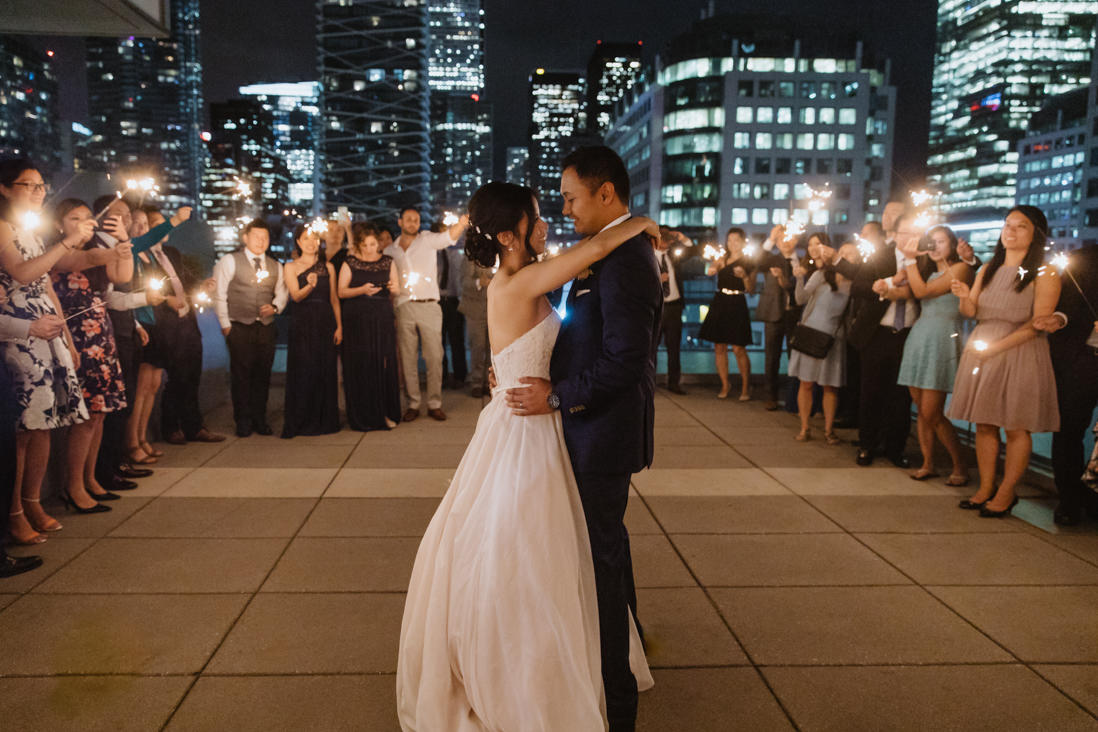 sparkler first dance malaparte wedding toronto