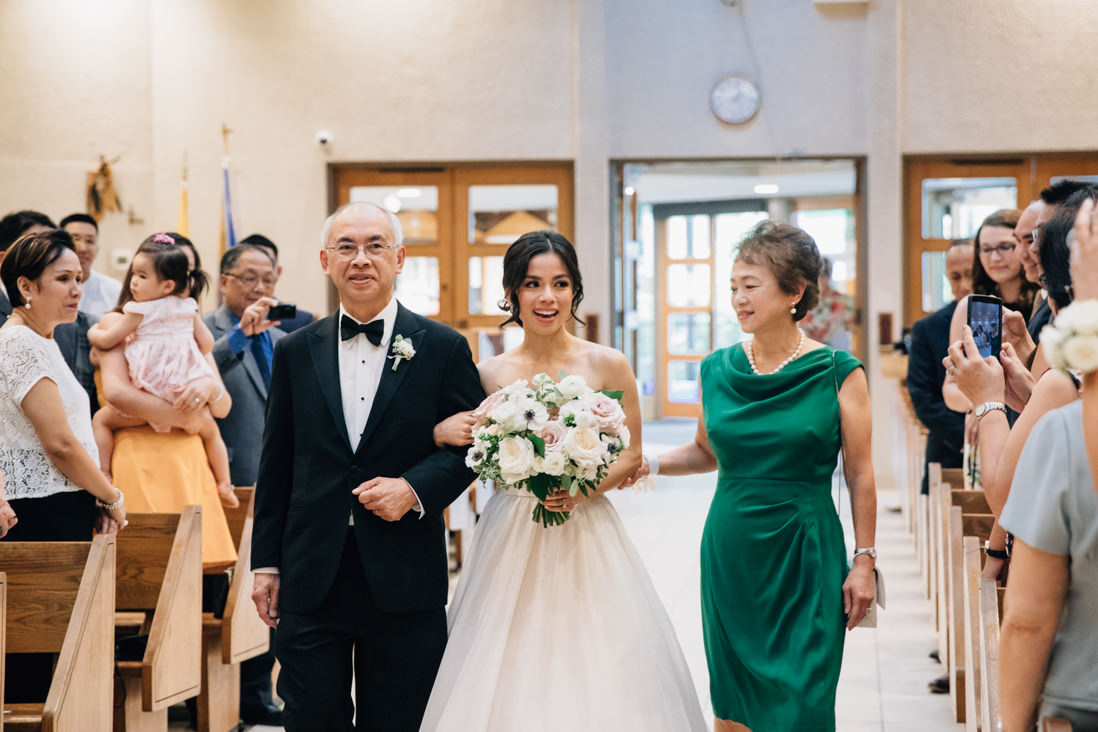 wedding processional at st patricks parish, markham ontario