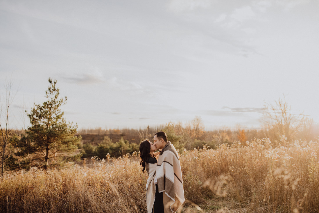 sunset forks of the credit engagement caledon | eightyfifth street photography