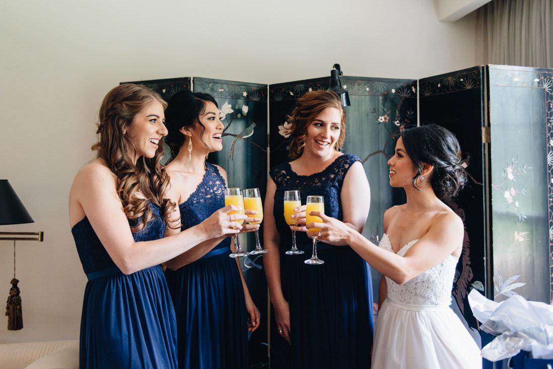 brides party mimosas toast | EightyFifth Street Photography